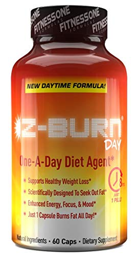 Z-Burn Day- 1 Pill A Day Fat Burner! Just 1 Capsule Burns Fat, boosts Metabolism, suppresses Appetite, and Provides All Day Energy and Focus to hit Your Goals and get Stuff Done!