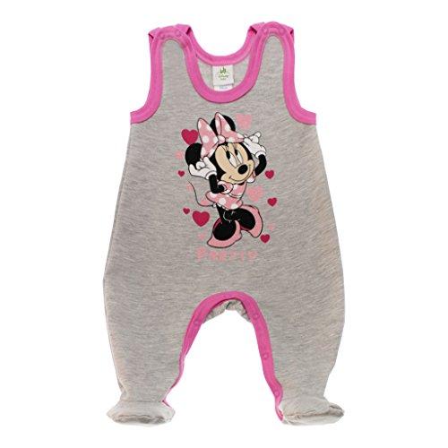 Disney Baby Minnie Mouse Mädchen Strampler mit oder ohne Fuß *viele Modelle* in Größe 56 62 68 74 80 86 92 98 warm kuschelig auch als Baby Schlafanzug Farbe Modell 12, Größe 56