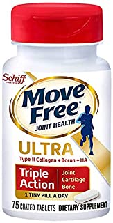 Move Free Type II Collagen, Boron & HA Ultra Triple Action Tablets, Move Free (75 Count in A Bottle) 1 ea (Pack of 3)
