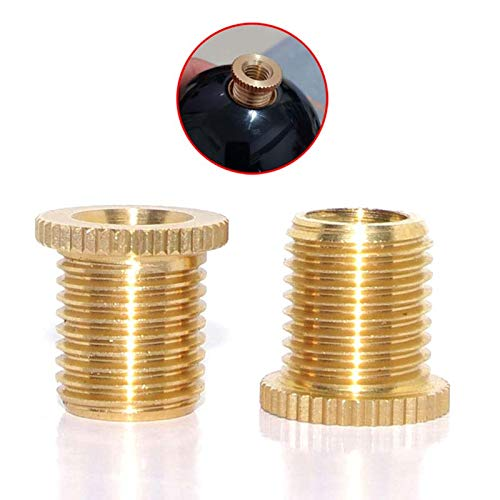 Pursuestar 2Pcs Copper Car Gear Stick Shift Knob Shifter Head Thread Screw Adapter Replacement Insert Kit(M12x1.25 to M8x1.25)