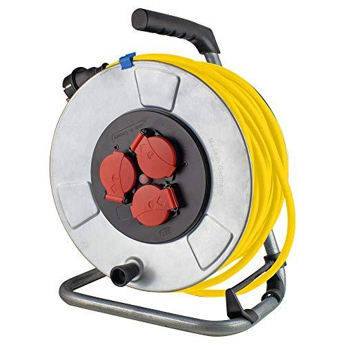 AS Schwabe 10343 - Carrete alargador de cable (metal, 25 m, diámetro...