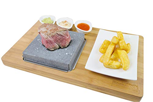 Black Rock Grill Steak On The Stone Set, Hot Rock Grill Table Top Lava...
