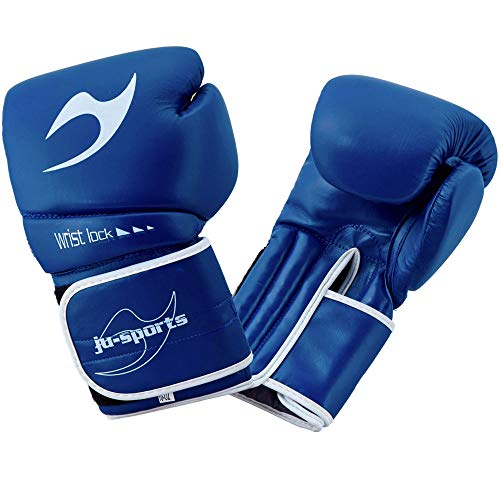 Ju-Sports C16 Competitor - Guantoni da Boxe in PU, 10 oz, Colore: Blu