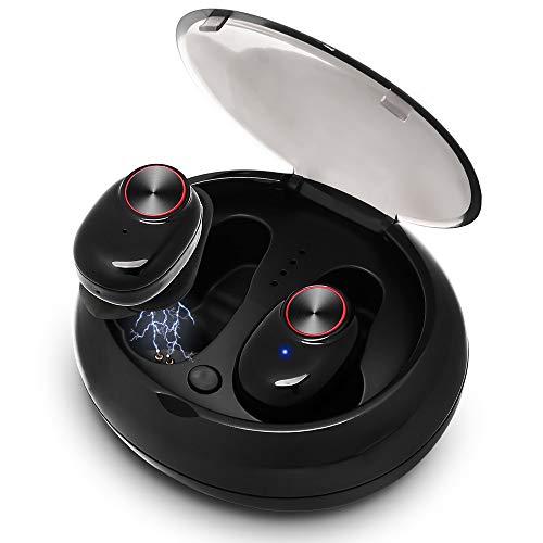 Draadloze oordopjes hoofdtelefoon Mini 5.0 binaurale oproepen hoofdtelefoon TWS stereo Bluetooth hoofdtelefoon met opladen box onzichtbaar niet flashing magnetische lading