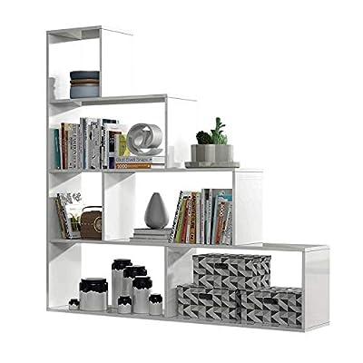 La estantería de pared modular Klum es decorativa y funcional a partes iguales, que presenta una estructura por módulos que te permitirá almacenar todo tipo de objetos. Es perfecta para el salón-comedor, pero también puede resultar muy útil en otras ...