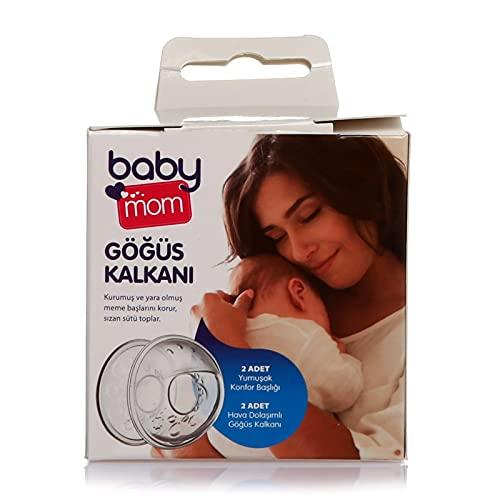ebebek baby mom Auffangschale Stillen für Muttermilch, Brustwarzenformer, Stillhütchen, 2er Brustschalen-Set, Stilleinlagen Waschbar, Brusthaube, Perfekt zum Brusternährungsset