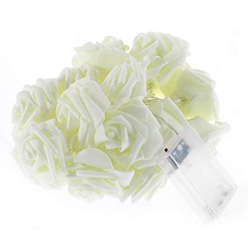Luci A LED 20 Rose Flower Fairy Wedding Party Decorazione Natalizia