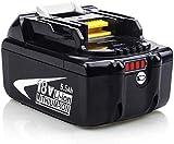 Reoben BL1860B 18V batterie de remplacement pour makita outils électriques sans fil BL1850B BL1850 BL1835 BL1840 BL1830 BL1815 BL1845 LXT-400
