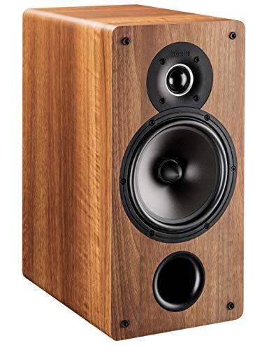 Coppia diffusori da scaffale 2 Vie Bass-Reflex frontale Amplificazione suggerita da 30 a 120 Watt Woofer 160 mm. Tweeter 26 mm. Dimensioni: L 180 x A 362 x P 275 mm. Finitura Noce