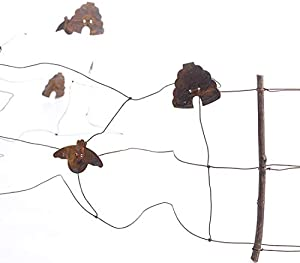 Factory Direct Craft Primitive Rusty Tin Bumble Bee and Beehive Fence Garland