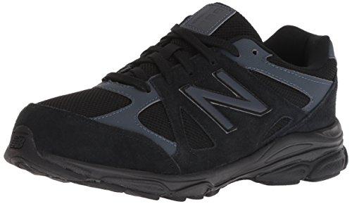 New Balance Boys' 888v1 Running Shoe, Black/Thunder, 5 M US Big Kid