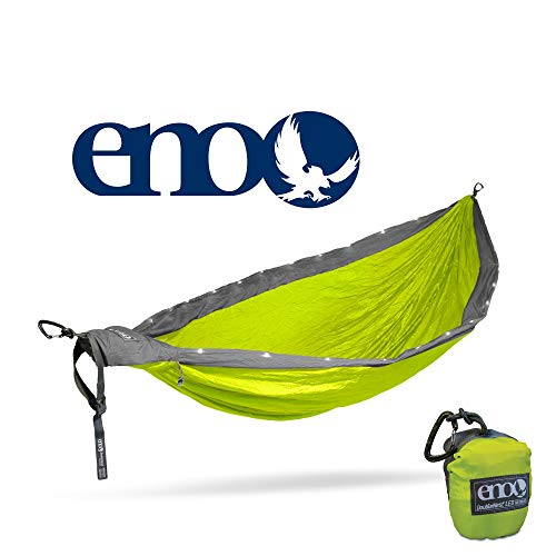 ENO - Eagles Nest Outfitters DoubleNest LED Hammock (Grey/Neon)