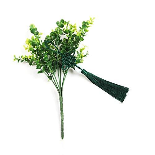 YOTONG Pendiente Accesorios 5PCS Paz Jade borlas China Nudo de la joyería Home Textile Cortina Decorativa de Costura de Ropa de macramé,Verde Oscuro