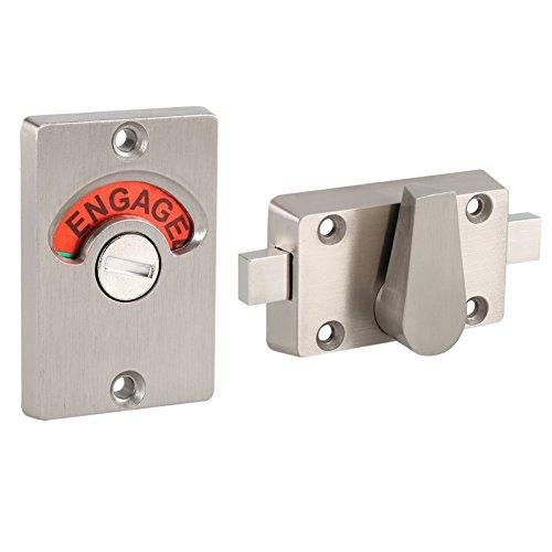 Toilet Lock Indicator, roestvrijstalen deurgreep met weergave deurslot, WC-indicator vergrendeling indicator blokkering privacy lock & hendel met in-gebruik of vrije indicator om te laten zien of de ruimte is bezet
