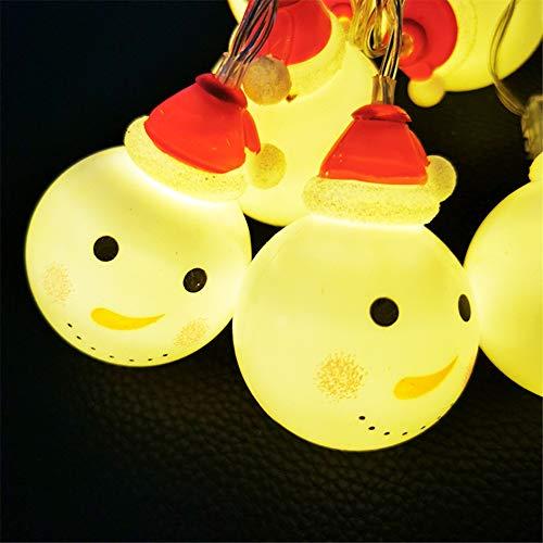 Lichtsnoer lichtketting LED kerstverlichting bal wit sneeuwman lichtketting feeën met batterijen decoratie voor vensterbanken bomen slaapkamer tuin
