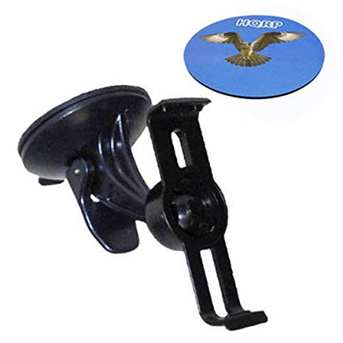 HQRP Windschutzscheibenhalterung für Garmin nüvi 1370T / 1390LMT / 1390T / 1300 / 1300LM / 1350 / 1350T / 1350LMT / 1200 / 1210 / 1240 / 1250 / 1260T / 1300T / 1310 / 1340 / 1340T / 1450