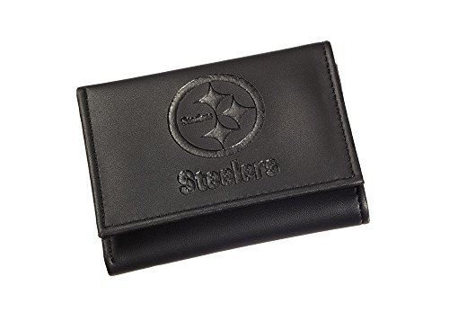 Team Sports America Leather Pittsburgh Steelers Tri-fold Wallet