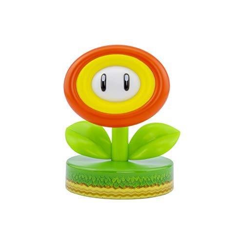 Paladone Super Mario - Feuerblume - Tischlampe | Offizielles Merchandise