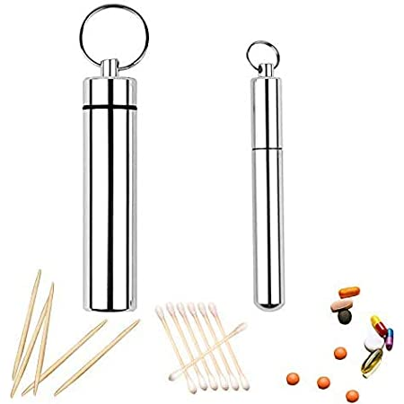 4pc Portable Stainless Steel Waterproof Toothpick Holder Outdoor Travel TEUS Ys