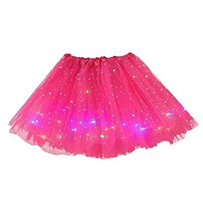 Women Girls Neon LED Dance Tutu Skirt Pleated L...