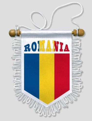 KOO Interactive - Rumänien - 13 x 15 cm - Auto Wand Fahne Flagge Wimpel