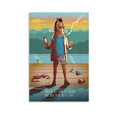 ASHDJ Displate BoJack Horseman, poster decorativo da parete per soggiorno, camera da letto, pittura, 50 x 75 cm