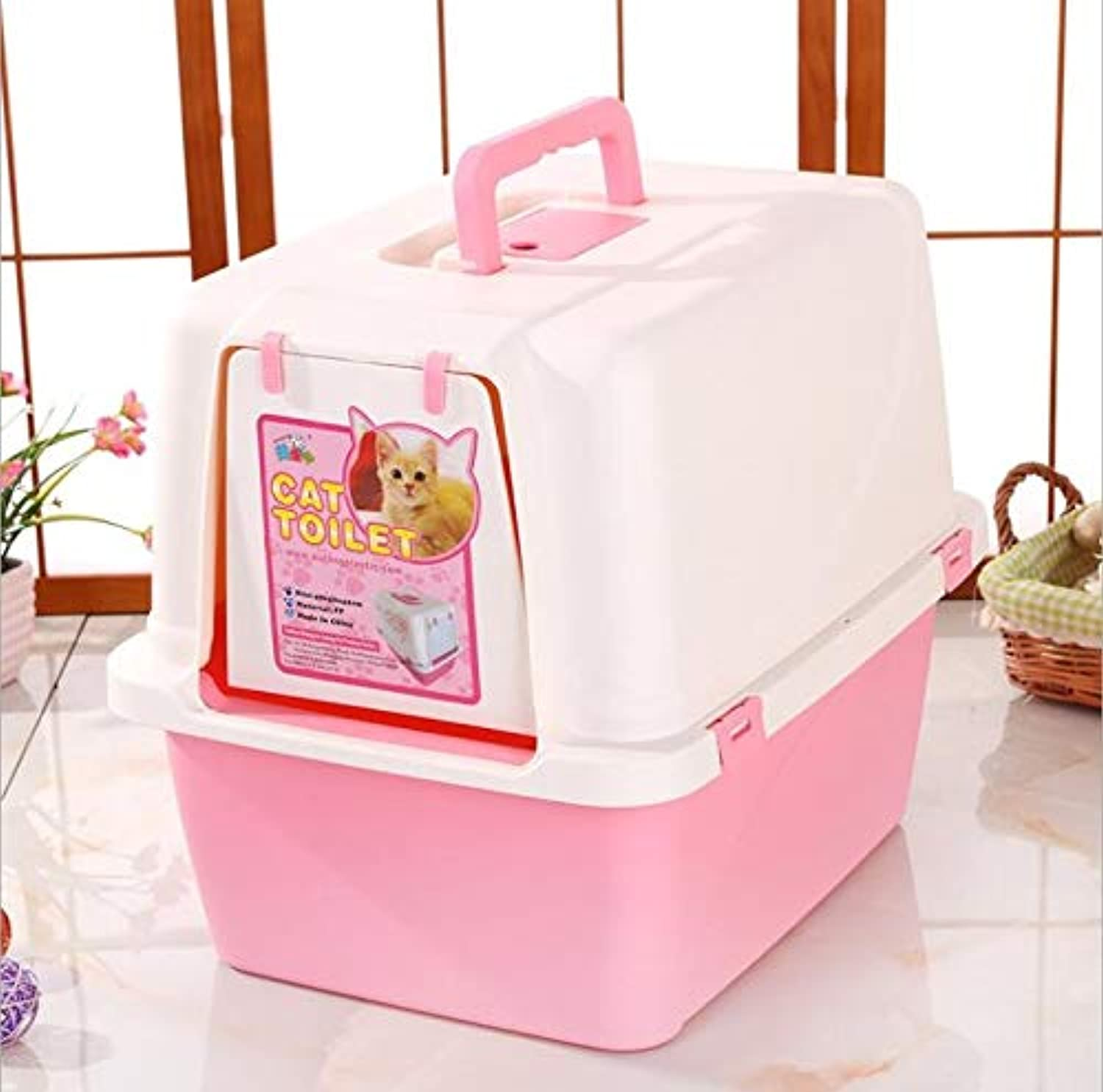 Large Dog Toilet, Pet Supplies Lattice Dog Pot, Puppy Cat Pet Training Pad Potty, Easy Care, Sterile, Tasteless, Corrosion Resistant (color   Pink)