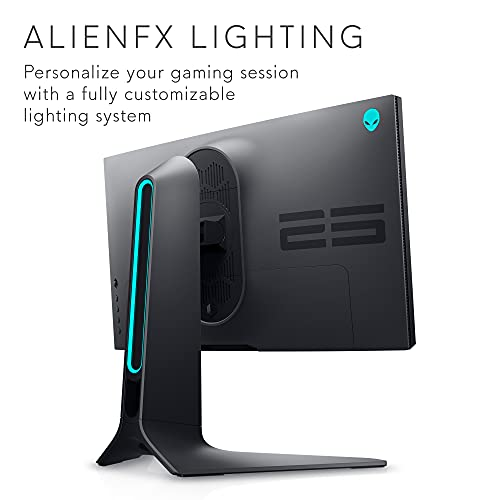 Alienware 360Hz Gaming Monitor 24.5 Inch FHD (Full HD 1920 x 1080p), NVIDIA G-SYNC Certified, 100mm x 100mm VESA Mounting Support, Dark Side of The Moon - AW2521H