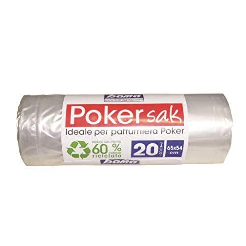 Bama Poker Sak, Sacchetti Pattumiera, 65x54 cm, Pacco da 20