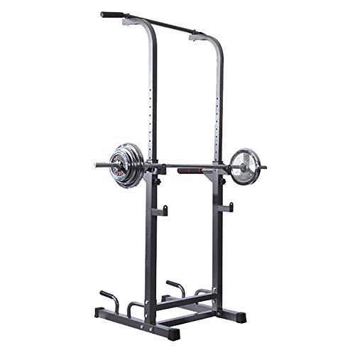 Squat Rack e Bench Press Combo Bilanciere Rack,Attrezzatura per Il Fitness Regola Il Sollevatore per Pull-Up Esercizio per I Muscoli Addominali Carico Massimo 250Kg A