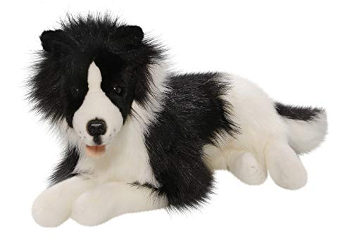 Carl Dick Peluche - Border Collie acostado (Felpa, 42cm)