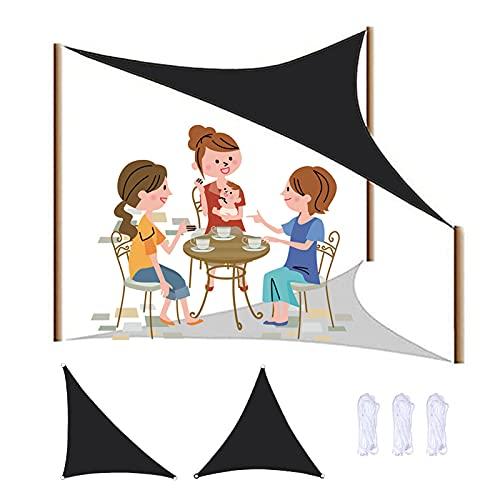 Yeanee Sombra al aire libre vela impermeable toldo triángulo para fiesta de jardín, playa, camping, protección UV, resistencia al desgaste, 2x2 x 2 m, 3x3 x 3 m, 12 tamaños