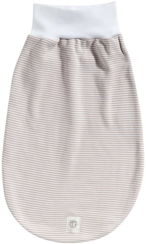 Bellybutton Kids 4045-3 - Strampelsack, white / beige striped Unisex, Gr. one size (0-6 Monate), Beige