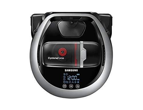 Samsung POWERbot Precision Robot Aspirapolvere, Spazzola Morbida Soft Action, Sistema di Pulizia ad Alte Prestazioni, Comandi Vocali tramite Smartphone, Connessione Wi-Fi, Metal Satin