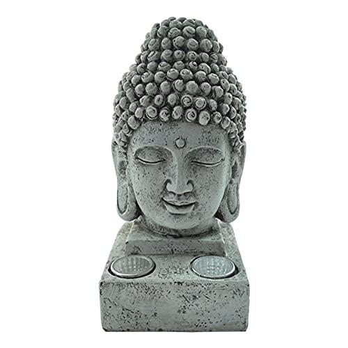 Estatuilla de Buda, resina Buda, escultura al aire libre, estatuas de luz solar para la decoración de la casa