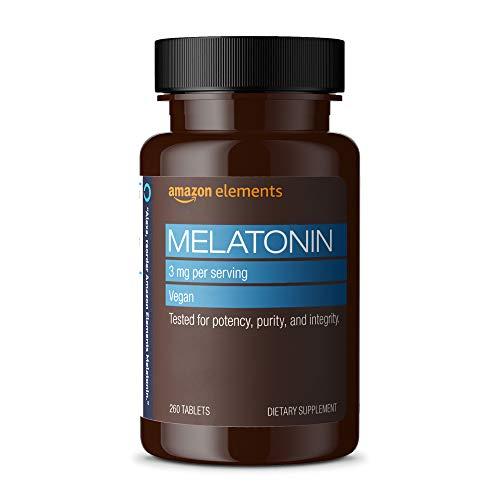 Amazon Elements Melatonin Supplements 3mg