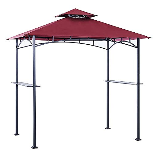 ABCCANOPY Grill Shelter Replacement Canopy Roof ONLY FIT for Gazebo Model L-GZ238PST-11 (Burgundy)