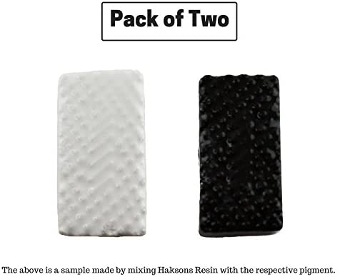 Haksons Plastic Opaque Pigments for Epoxy Resin (White and Black, 30 g) -Pack of 2