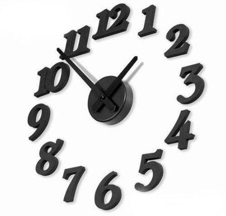 KOTiger Creative DIY Horloge Murale d'intérieur Auto-adhésive pour décoration Murale
