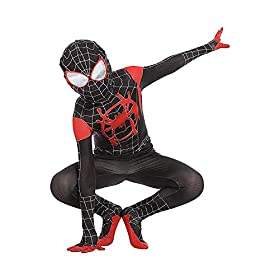 Kids Toddler Superhero Jumpsuit Bodysuit Black Tights Zentai Costume