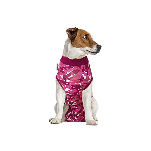 Suitical Recovery Suit Hund, S, Rosa Camouflage