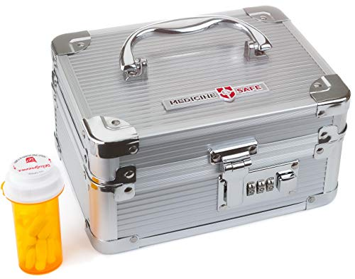 Medicine Safe Carrying Case_Small/Silver
