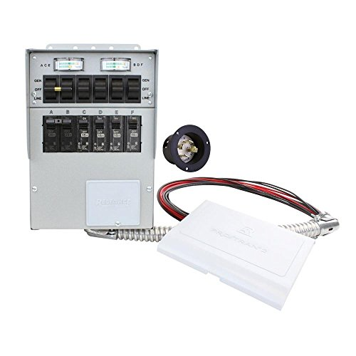 306A Pro Tran2 30-Amp 6-Circuit 2 Manual Transfer Switch with Optional Power Inlet
