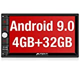 PUMPKIN Autoradio 2 din android 9.0 navigation stereo GPS 4GB ram 32GB rom da 7 pollici, avvio 1s, supporta Bluetooth 4.0/ Wifi/ DAB+/ Mirror-link / Controllo del volante/ USB/ SD/ AV-OUT/ 1080P Video