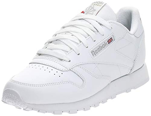 Reebok Classic Leather Zapatillas, Mujer, Blanco, 37.5 EU / 4.5 UK / 7 US