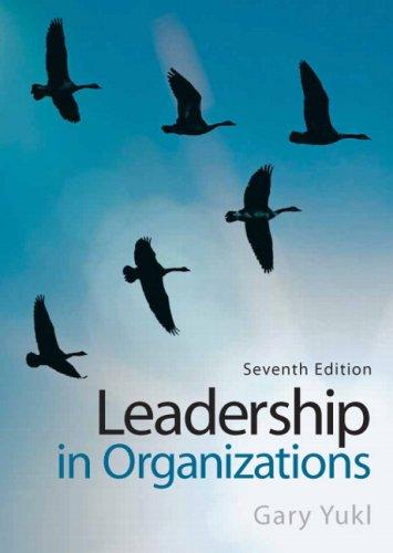 Leadership in Organizations (7th Edition)