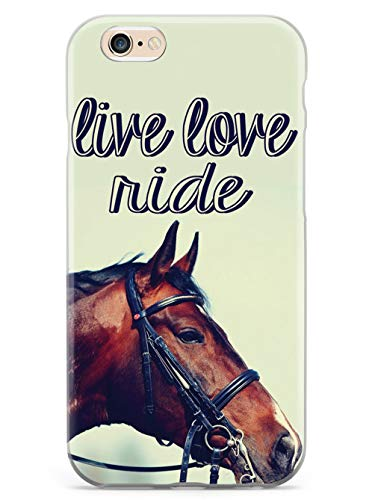 Inspired Cases - 3D Textured iPhone 6/6s Case - Rubber Bumper Cover - Protective Phone Case for Apple iPhone 6/6s - Live Love Ride - Equestrian Horse
