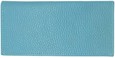 Teal Genuine Colorado Leather Collection Checkbook Cover Factory Direct Made in USA by Real product image