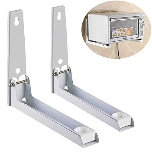 Faltbares Stretch-Regal, Wandhalterung, für Küche, Mikrowelle, Backofen, Ständer für die Wandmontage – Weiß