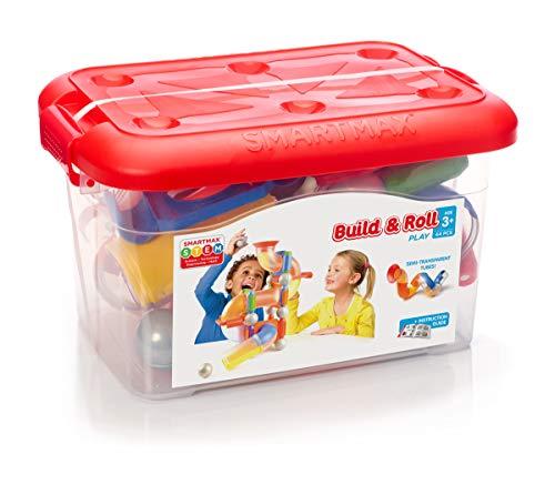 SMARTMAX SMX 909 Build & Roll Bausatz / Spielzeug, für Jungen und Mädchen, für Kinder ab 3Jahren, Mehrfarbig, 44Teile